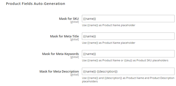 Magento 2 meta templates - Product Fields Auto-Generation