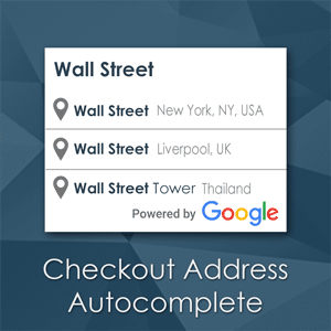 Checkout Address Autocomplete - Magento extension