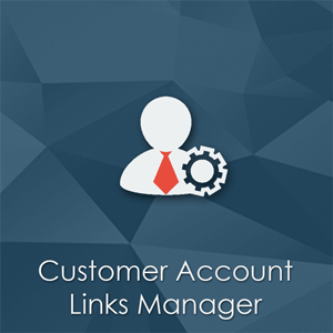 Customer Account Links Manager Magento extension. Remove unnecessary tabs.