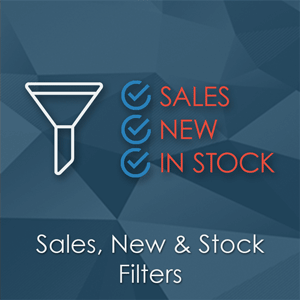 Sales, New and Stock Filters - Magento Extension - Additional filters for Layered Navigation and catalog search page
