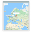 Billing address and IP location (which are assumed as actual customer location) are displayed on the Google Map