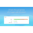 Track the image optimization progress
