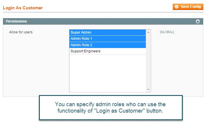 Login as Customer Magento Extension - Browse webstore with customer's eyes