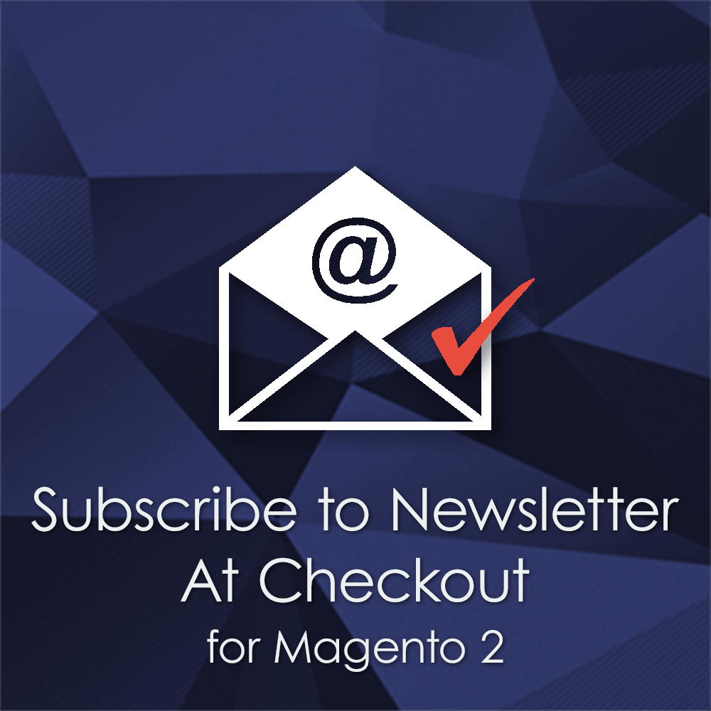 Equip your Magento 2 checkout with a newsletter subscription checkbox. Newsletter checkout extension for Magento 2.