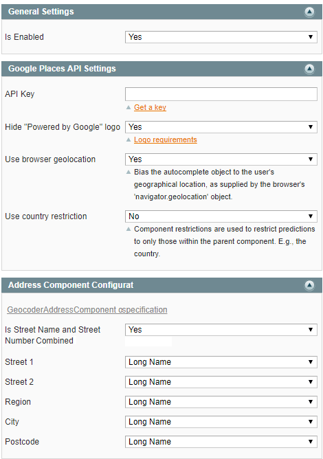 Checkout Address AutoComplete extension for Magento 1.*