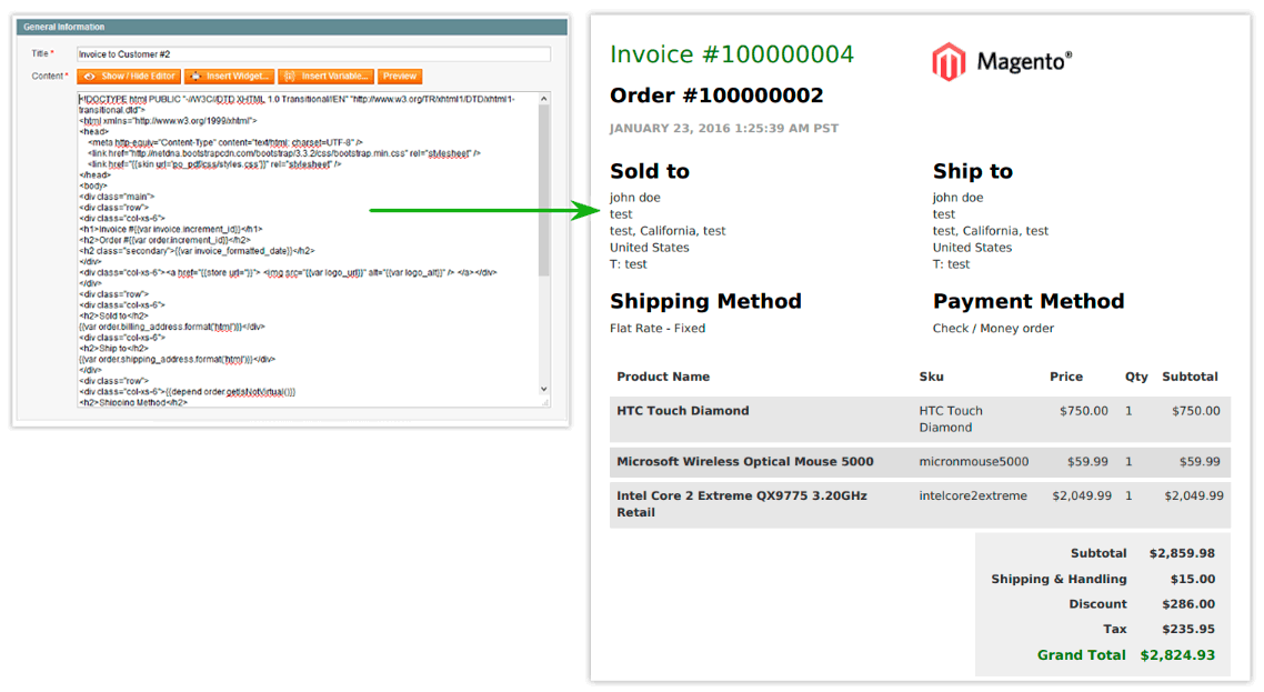 Invoice PDF Customizer - Extension for Magento to convert HTML to PDF, Better Custom Print Invoice