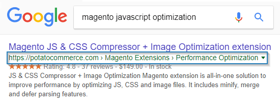 Rich Snippets Breadcrumbs magento extension